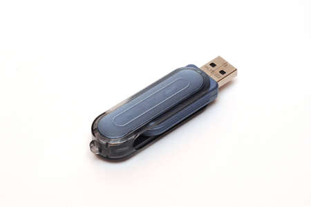 USB stick storage device, computer flash card isolated on white background Stock Photo - 4487033