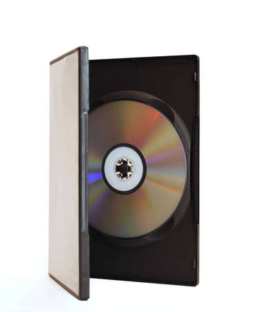 Big blank DVD box with disc open on white background isolated Stock Photo - 4487032