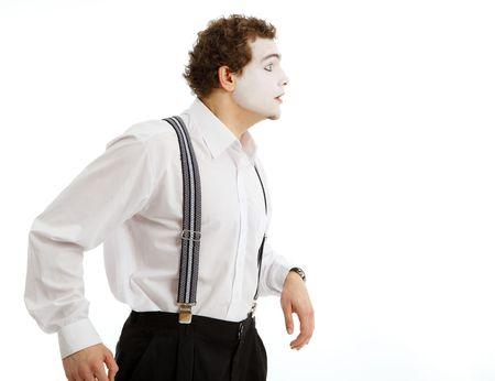 pantomima: Retrato de un actor una pantomima Foto de archivo