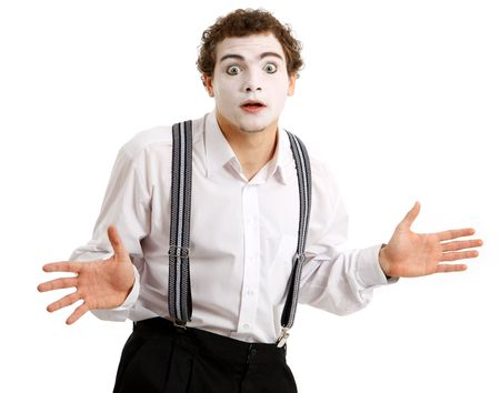 pantomime: Portrait of an actor playing a pantomime Stock Photo