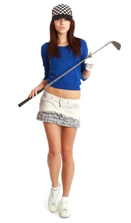 hole in one: Golf Player. studio isolated shot