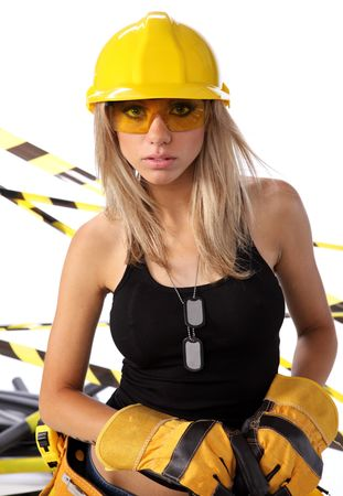 hardhat: Young woman worker engineer