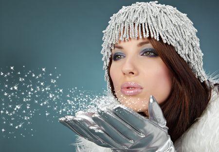 fantasy makeup: portrait of a winter woman