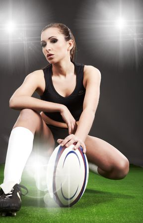 rugby football: Rugby girl
