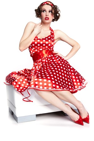 silver dress: Pin-up girl. American style