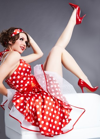 Pin-up girl. Stile americano  Archivio Fotografico - 6929453