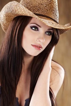brunette: Beautiful Cowgirl