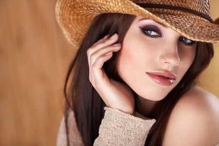 Portrait of a Beautiful Country Woman  photo