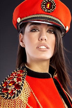 Sexy model wearing glamour uniform Stock Photo - 7017132