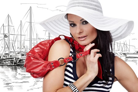 Summer Woman and Sailor fashion style  photo