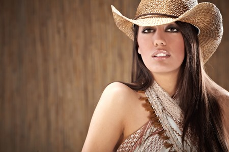 sexy woman with cowboy hat Stock Photo - 7561797