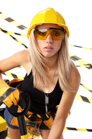 Young woman worker engineer photo