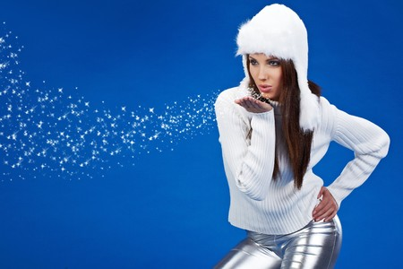 fille hiver: Jeune fille sexy hiver