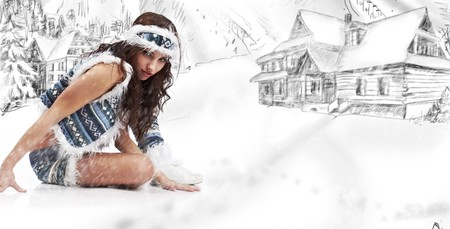 indian sexy: Winter woman