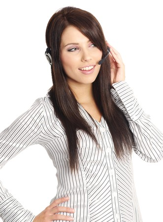 business customer support operator Stock Photo - 7762431