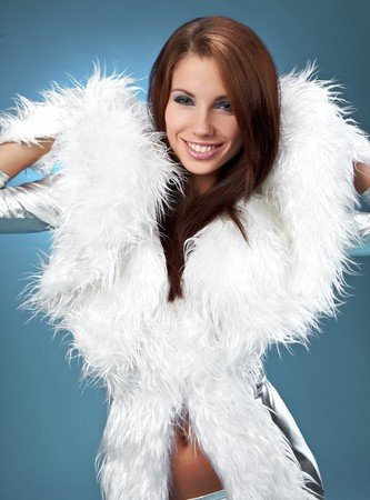 Glamour Portrait of sexy winter woman Stock Photo - 7762550