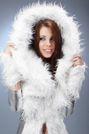 Glamour Portrait of sexy winter woman  Stock Photo - 7762556