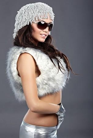 Winter fashion girl  photo