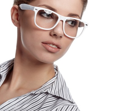 woman wearing glasses: business woman in glasses