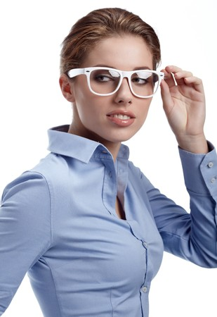 sexy office girl: Beautiful businesswoman
