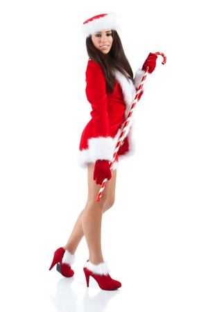 beautiful sexy girl wearing santa claus clothes  Stock Photo - 7887234