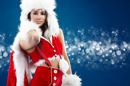 beautiful sexy girl wearing santa claus clothes  Stock Photo - 7946547