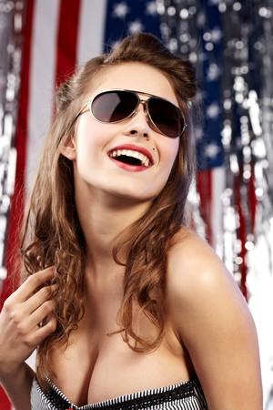 american sexy: Sexy american woman Stock Photo