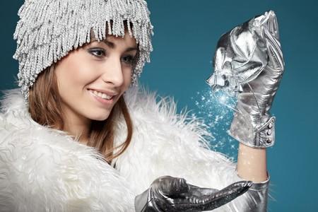 Femme d'hiver magique