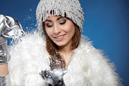 Magic winter woman Stock Photo - 8195707