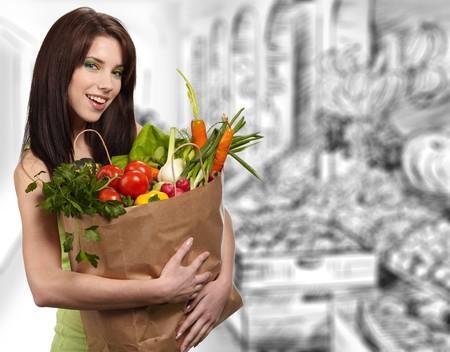 woman in a supermarket photo