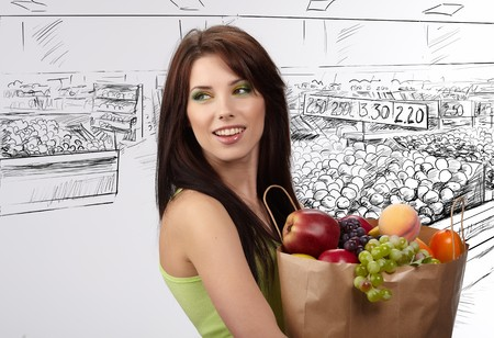 woman in a supermarket Stock Photo - 8195814
