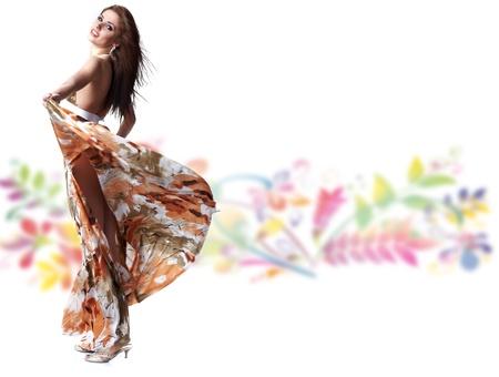 girl wearing a summer dress