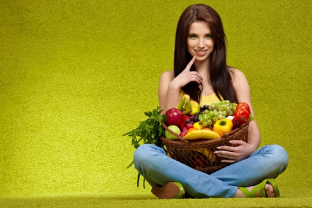 fruits and vegetables shopping photo