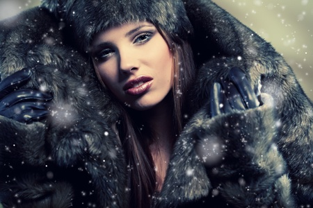 Winter  woman Stock Photo - 8630898