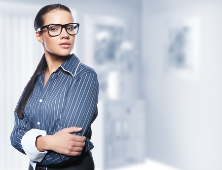 Closeup portrait of cute young business woman Stock Photo - 8704498