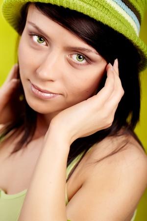 Beautiful spring woman portrait. green concept Stock Photo - 8881590