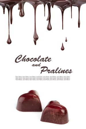 pralines: Hot chocolate pralines