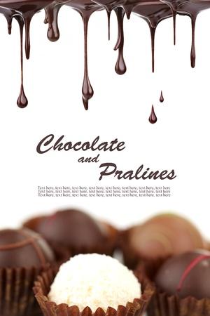 pralines: Hot chocolate pralines