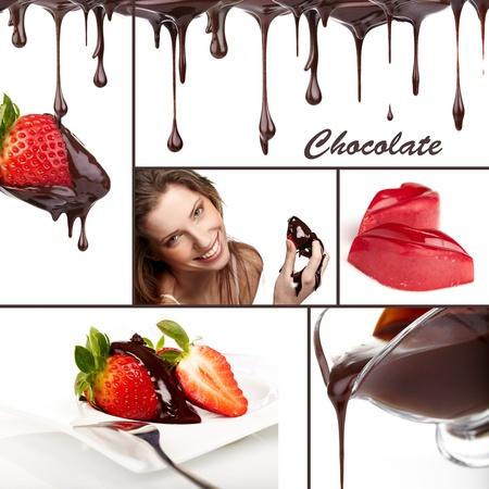 chocolate colage photo