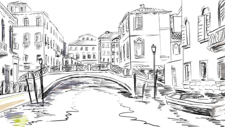 drawn to the old town  photo