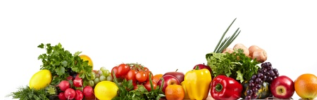fruits background: Fruit and vegetable borders  Stock Photo