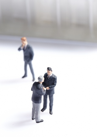 employee stock option: Business figurines standing