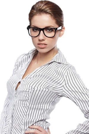 bussines people: business woman in glasses