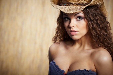 sexy woman with cowboy hat  Stock Photo - 9254949