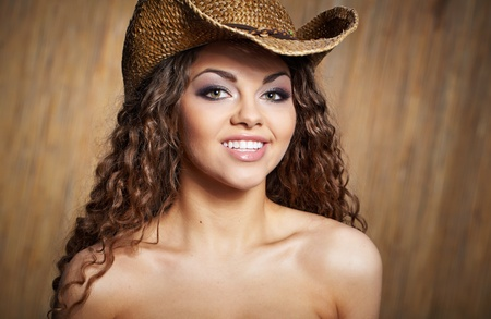 sexy woman with cowboy hat Stock Photo - 9254987