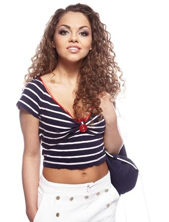 Sexy sailor girl Stock Photo - 9255103
