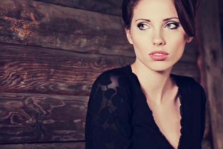 vogue: Beautiful brunette posing
