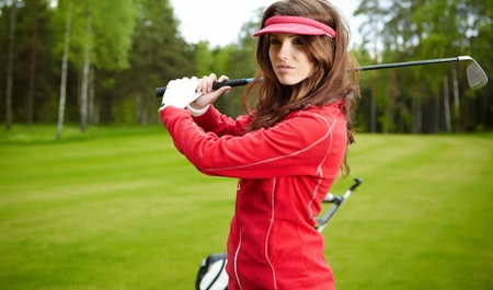 womans golf Stock Photo - 9614037