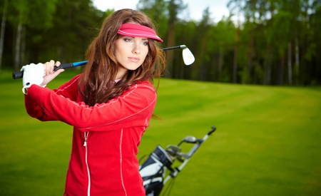 woman's: womans golf Stock Photo