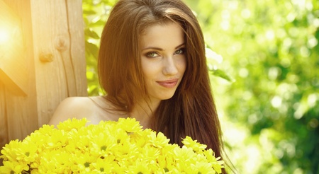 Beautiful summer woman Stock Photo - 9765371